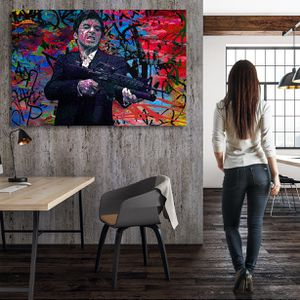 Scarface Modern Wall Art 700+ Museum Quality Canvas Paintings. Sizes Start @$89/ONLY $22 down! 👉ArtworkAddict(dot)com for Sizes+Sales! EZ Returns+💰Ba for Sale in Miami, FL
