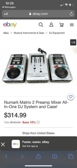 Numark Matrix 2 Preamp Mixer All-In-One DJ System and Case for Sale in Dunellen, NJ