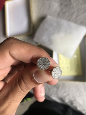 14k Gold and Real Diamond Earrings for Sale in Tampa, FL