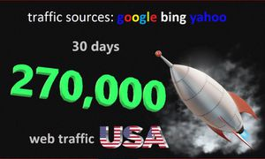 I Will increase your website traffic targeted from usa for Sale in New Orleans, LA