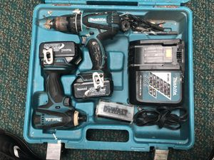 Combo Drill Set, Tools-Power Makita .. Combo Set Drill & Impact W 2 Batteries for Sale in Baltimore, MD