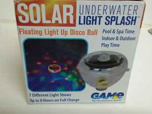 Floating Light Show Disco Ball for Pool Spa Hot Tub - Solar Powered for Sale in Las Vegas, NV