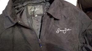 Men's Sean John black medium suede finish full zip jacket. for Sale in Scottsdale, AZ