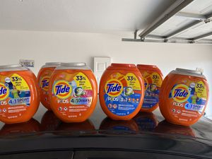 $15 Each Tide Pods 96&73 Count Firm!Pick Up Only Vegas Dr and Rainbow for Sale in Las Vegas, NV