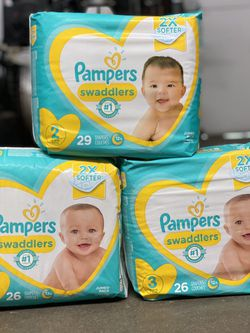 Pampers Swaddles Diapers Size 2 /3/4 for Sale in Burbank,  CA
