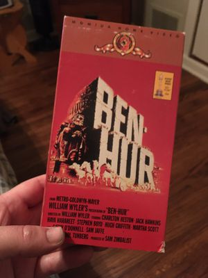 Famous Ben hur with charlton Heston vhs $5 for Sale in Tulsa, OK