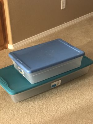 3 Plastic Storage Container Under bed Bin for Sale in Arroyo Grande, CA