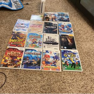 Wii With 15 Games (games In Description) for Sale in Torrance, CA