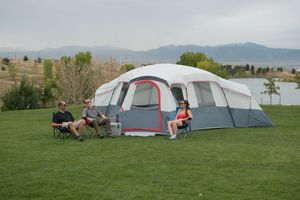 Ozark Trail 20-Person 4-Room Cabin Tent with 3 Separate Entrances for Sale in Houston, TX