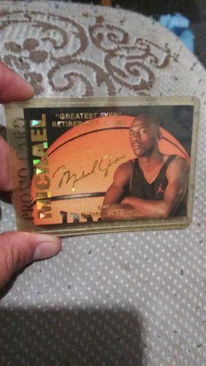 Michael Jordan promo card for Sale in El Monte, CA