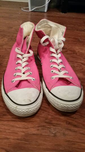 Hot Pink Converse High top shoes for Sale in St. Louis, MO