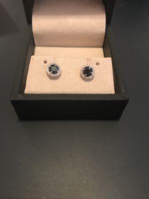 Diamond Sapphire Earrings for Sale in Denver, CO