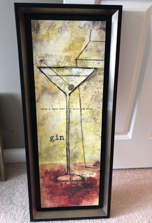 Martini bar picture 33 x 13 for Sale in Kildeer, IL