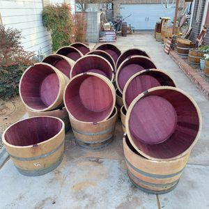 Half Wine Barrels for Sale in Modesto, CA