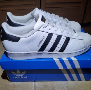 FATHER'S DAY PRESENT - Adidas Superstar - Men's White/Black Stripe - Size 11 for Sale in St. Petersburg, FL
