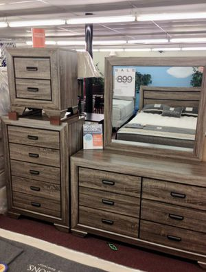 🍒 BEST Offer Farrow Grayish Brown Panel Bedroom Set 72 for Sale in Jessup, MD
