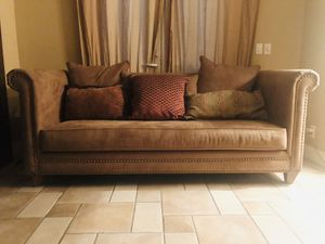 Real beautiful Suede Sofa for Sale in Fresno, CA