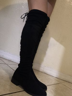Black thigh high boots for Sale in Dade City, FL