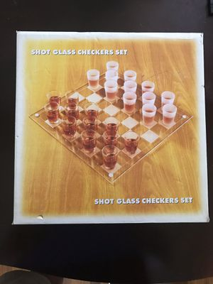 Shot Glass Checker Board for Sale in King of Prussia, PA