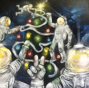 Large Original Jerod Dtox Davies Aerosol and Latex on Panel Art Painting for Sale in Dallas, TX
