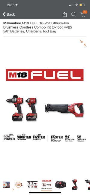 Milwaukee Fuel kit for Sale in Brockton, MA