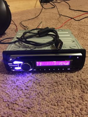 Sony stereo with usb auxiliary input cd radio for Sale in Round Rock, TX