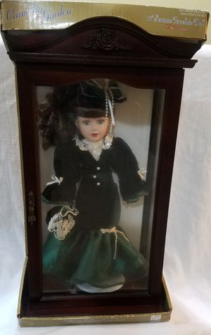 4 $$$ale!!!! Collectable Camellia Porcerlane doll in wooden case for Sale in Orlando, FL