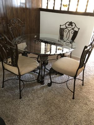 Glass Kitchen Table and Chairs for Sale in Westminster, CO