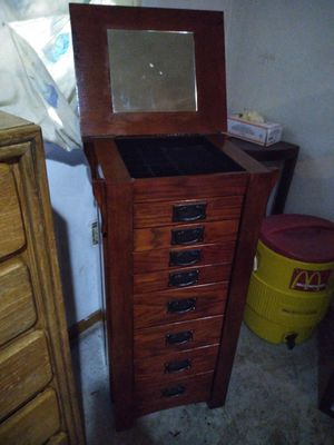Solid hardwood jewelry cabinet for Sale in Obetz, OH