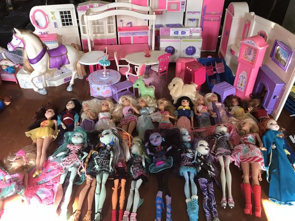 Barbies and monster high