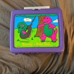 1992 Thermos Barney And Baby Bop Lunch Box for Sale in Sebastian,  FL