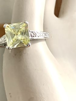 ANTIQUE STERLING SILVER CITRINE HEMSTONE 12MM RING (SIZE 10 ) MARKED GR CHINA Excellent Condition is Pre owned Weight 5.51 grams for Sale in Los Altos,  CA