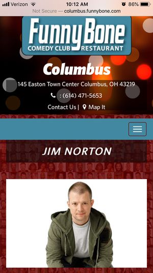 Jim Norton Funnybone Comedy Show (Saturday August 10th) for Sale in Columbus, OH