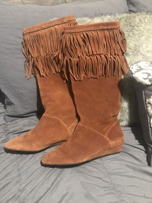 suede fringe boots for Sale in Waterford, CA