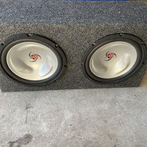 Kenwood 2x 12 Inch Subwoofer Box (800 Watt Amp) for Sale in Miami, FL
