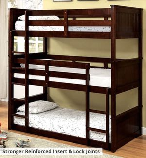 New Triple Twin Bunkbed With Mattresses Included In Box New for Sale in Burbank, CA