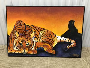 Large Beautiful Tiger Picture - Wall Art Decor for Sale in Lake Worth, FL