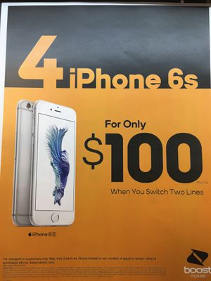 4 free phones 100$ monthly 20 gigs of hospot for Sale in Orlando, FL