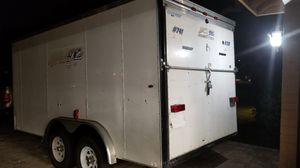 Enclosed Trailer w Ramp 14 ft 5 inches x 69 inches W Clean Title New Tires, Axles serviced . Takes 2 5/16 ball fits a 4 seater Polaris Razor 1000 for Sale in Phoenix, AZ