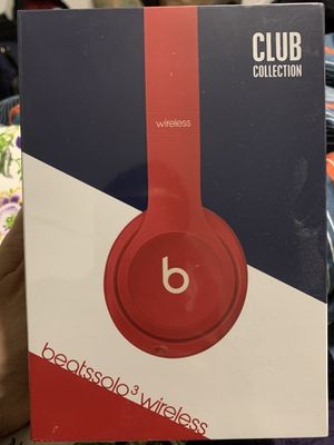 Beats Solo3 Wireless Headphones - Beats Club Collection - Club Red for Sale in Fisherville, TN