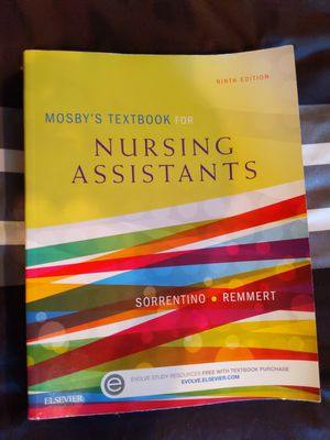 Mosbys textbook for nursing assistants for Sale in San Dimas, CA