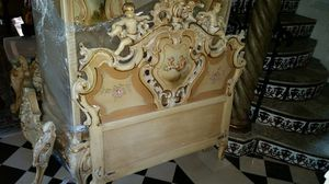 Antique kids armoire, headboard, footboard and nightstand for Sale in Miami, FL