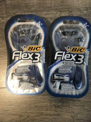 Bic flex 3 razors $3.50 a pack for Sale in San Bernardino, CA