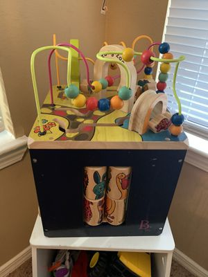 Zany Zoo wooden activity cube for Sale in Kennesaw, GA