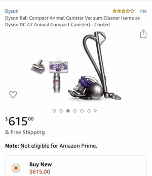 Dyson Ball Compact Animal Canister Vacuum Cleaner (same as Dyson DC 47 Animal Compact Canister) - Corded for Sale in San Diego, CA