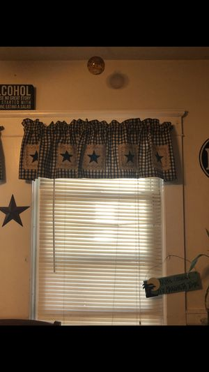 Primitive style valance curtains for Sale in Uxbridge, MA