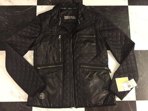 Michael Kors Leather Vest zipoff Jacket size:S for Sale in Seattle, WA