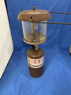 Vintage Single Mantle Lantern With Pyrex Globe Primus Propane Cylinder for Sale in Pompano Beach, FL