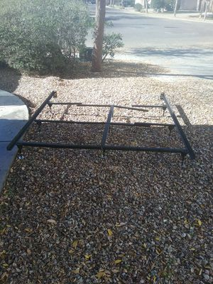 3 pc King or Queen size metal bed frame with 9 risers for Sale in Gilbert, AZ