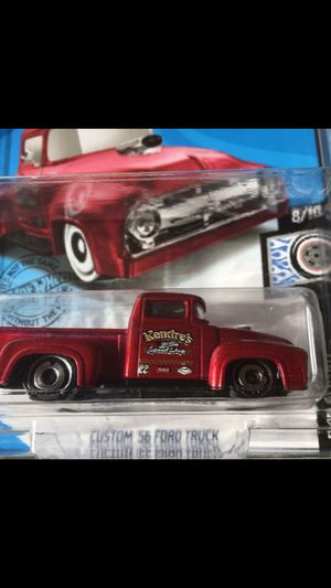 Hot wheels Kroger exclusive 56 ford pickup truck collectible die cast toy car $8 trade hotwheels jdm Honda Nissan Datsun Toyota Civic crx integra gtr for Sale in Colton, CA